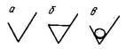 Знаки шероховатости, в т.ч. при шлифовании валов
