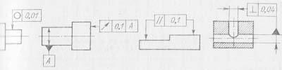 Обозначения допусков при изготовлении деталей по чертежу